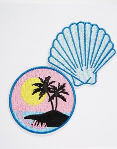 Image 2 of Skinnydip Paradise Iron On Patches (2pk)