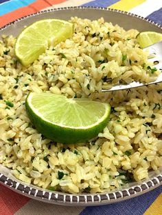Calling all Chipotle lovers! You can now make a huge batch of cilantro-lime rice yourself without leaving your house :) It's super easy, you'll love it! This amazing cilantro-lime rice is very versatile - you can eat it so many different ways!  Use this rice for Mexican-theme nights in tacos and burritos, serve this rice as a side dish for chicken, meat or fish - the possibilities are endless as cilantro-lime rice goes well with anything :)  You can also toss in some protein like chop...