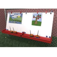 """Hanging Fence Easel - Two Stations - 46""""W at SCHOOLSin"""