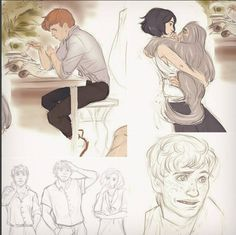 Tina and Newt Fantastic Beasts Drawing