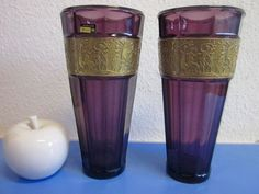Walther glass vases - series Hellas - 1930s to 1940s
