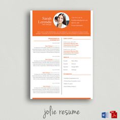 Resume Template Simon Ms Word Easy To Edit By Jolieresume