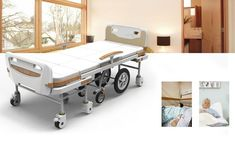 hospital beds - Those in a hospital or assisted living home could benefit from the design of the 'LOHAS' hospital beds as a way to help ensure optimal . Medical Design, Healthcare Design, Design Blog, Bed Design, Assisted Living Homes, Smart Bed, Bed Images, Hospital Design, Hospital Bed