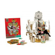 Enchanted Carrousel by Mon Petit Art - Buy Now Carrousel, Cardboard Packaging, Gifts For An Artist, Merry Go Round, Paper Folding, Art Activities, Creative Art, Enchanted, Gifts For Kids