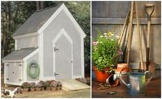 10 Free DIY Garden Shed Plans - Do you need a place for all of your garden tools? There are a bunch of free garden shed plans available on the Internet. Here's a list of ten of the best designs with links to help you download them. (  Photo: Georgia Pacific, GP.com )