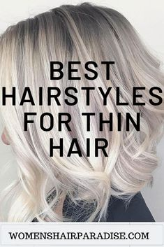 Here are some of the best hairstyles for women with thin fine hair. Short bob cuts,pixie to layered medium haircuts. Here are some of the best hairstyles for women with thin fine hair. Short bob cuts,pixie to layered medium haircuts. Haircuts For Thin Fine Hair, Thin Hair Cuts, Long Bob Hairstyles, Short Hairstyles For Women, Straight Hair, Thin Wavy Hair, Hairstyles Videos, Hairstyles 2016, Cuts For Thinning Hair