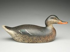 Exceptional mallard hen, Mason Decoy Factory, Detroit, Michigan. Early premier grade with outstanding paint and form.