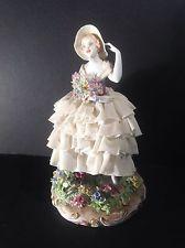LUIGI FABRIS Porcelain DRESDEN LACE Figurine