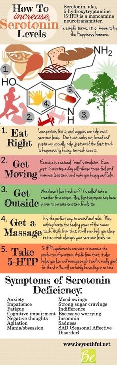 How To Increase Your Serotonin Levels Infographic