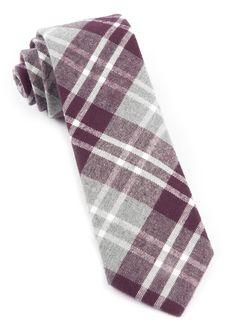 Bradenburg Plaid - Wine | Ties, Bow Ties, and Pocket Squares | The Tie Bar