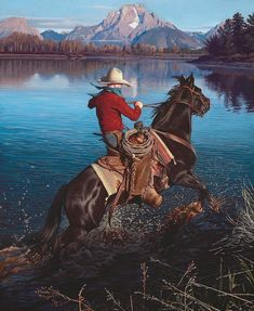 Western Painting Cowboy Family First - Yahoo Search Results Image Search Results Leo Tolstoi, Westerns, Western Horseman, Art Occidental, Horse Shirt, Southwest Art, Red Dead Redemption, Le Far West, Real Cowboys