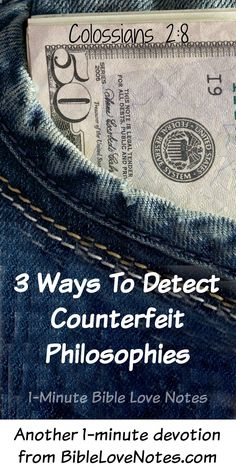 3 Ways to Detect Counterfeit Philosophies