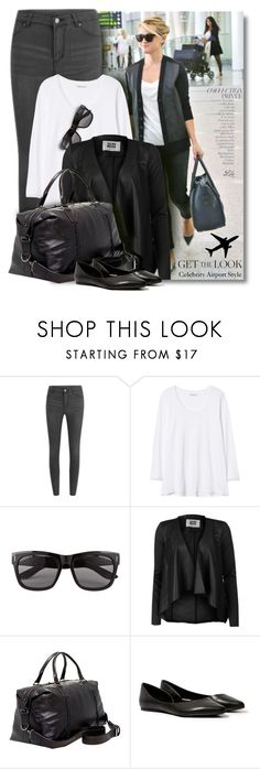 """""""Get the Look: Celebrity Airport Style"""" by breathing-style ❤ liked on Polyvore featuring Cheap Monday, Rebecca Taylor, Vero Moda, John Varvatos, Steve Madden and By Terry"""