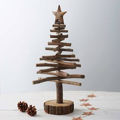 Twig Christmas trees are a rustic alternative