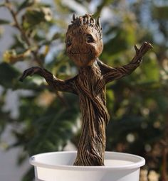 Baby Groot in Plant Pot. I am Groot by MasenkoProps on Etsy - I'm obsessed with Baby Groot Baby Groot, Dc Anime, I Am Groot, Geek Out, Guardians Of The Galaxy, Cool Stuff, Stuff To Buy, Random Stuff, Creations