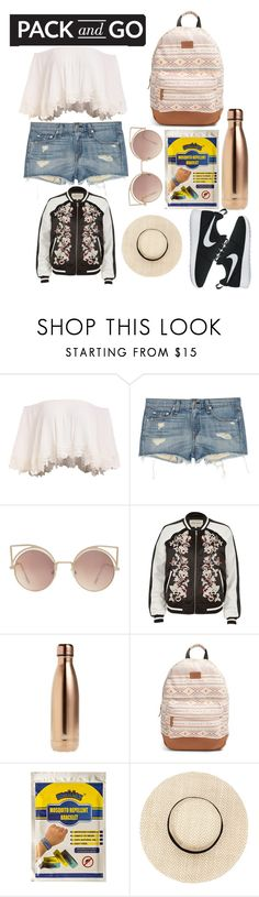 """""""Rio Olympics"""" by disneygal3 ❤ liked on Polyvore featuring rag & bone, MANGO, River Island, S'well, Rip Curl, NIKE, Packandgo and olympics2016"""