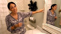 Fixer Upper: Visually Enlarge a Small Bathroom - YouTube