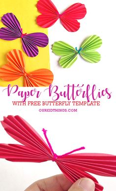 Accordion Fold Butterflies Craft 2019 Simple Accordion Fold Paper Butterflies Craft with Free Printable Butterfly Template The post Accordion Fold Butterflies Craft 2019 appeared first on Paper ideas. Printable Butterfly, Butterfly Template, Leaf Template, Crown Template, Paper Butterfly Crafts, Paper Butterflies, Paper Flowers, Paper Crafts, Toddler Art Projects