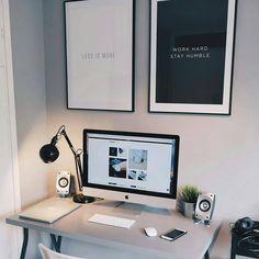 "278 curtidas, 2 comentários - Ü✞Ḱ∀ℝᏕĦ (@dvlpr.u) no Instagram: ""Minimal /// #dvlpr . . . . . . . . . . . . . #clean #imac #setup #setups #workspace #workspaces…"""