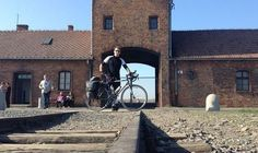 Moving 1,350-mile bicycle pilgrimage to visit Auschwitz  RIDE OF MY LIFE Robert Desmond arrives at Auschwitz and leaves his tributes.