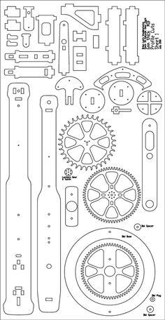Wood gear template generator shop pinterest generators clock 33 profile cuts 1 prg 500 maxwellsz