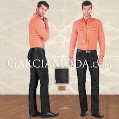 Pantalon Premium Lamasini Jeans 1805 Negro Corte Straight Leg con detalles en bolsa