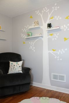 (Grayson's new room) The Random Mrs.: Baby D Gray and Yellow Nursery Reveal!