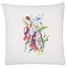 Poduszka z akwarelą kwiaty polne. Dzień Mamy, prezent Pillow, watercolor, wild flowers