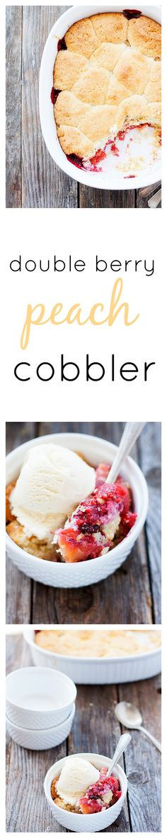 double berry peach cobbler | heathersfrenchpress.com #cobbler #dessert