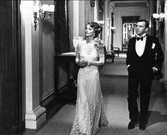 La caduta degli dei è un film del 1969 diretto da Luchino Visconti.Nella foto:Charlotte Rampling(Elisabeth Thallman) e Umberto Orsini( Herbert Thallman)