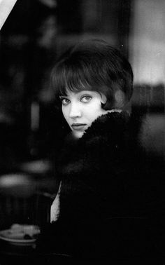 "Anna Karina on the set of ""Vivre sa vie"" (Jean-Luc Godard, 1962)"