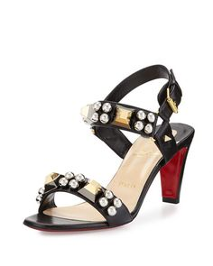louboutin studded sandals