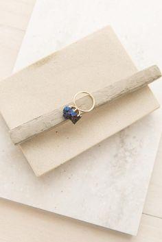 Tiny Treasures Ring in Gold + Cobalt | ShopDressUp.com