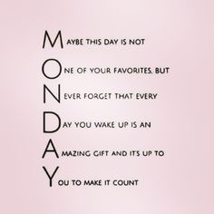 Make today count! #MondayMotivation • • • #PAPYRUS #regram @ilovemonday_s