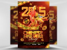 This Chinese New Year Party Flyer Template by INDUSTRYKIDZ exlusively for FlyerHeroes sports a gorgeous dragon, fearsomely tearing across the page. If you're looking to make an impression with your Lunar New Year parties, this flyer template is for you!