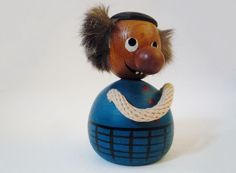 Vintage Danish Teak Wood Money Bank by oppning on Etsy, €40.00