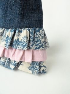 Recycled Denim Ruffled Purse, Little Girl Purse, Repurposed clothing toddler purse, upcycled jeans recycle purse Recycled Denim, Recycled Art, Little Girl Gifts, Little Girls, Blue Fabric, Cotton Fabric, Recycle Jeans, Teacher Christmas Gifts, Change Purse