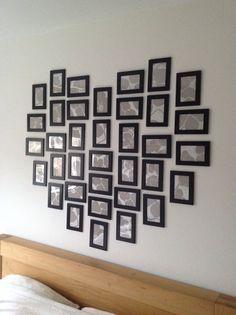 Fotolijsten hart met behang