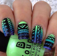 Ombré Tribal Nails