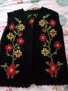 Christmas Sweaters, Fashion, Crochet Jacket, Sweater Vests, Jackets, Dots, Tejidos, Embroidery, Moda