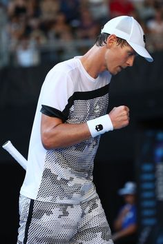 Day 1: Tomas Berdych of Czech Republic celebrates a point in his first round match against Kyle Edmund of Great Britain during day one of the 2019 Australian Open at Melbourne Park on January 14, 2019 in Melbourne, Australia.