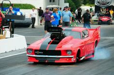 Shelby Mustang promod drag car