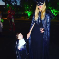 Rachel Zoe and her son Kaius as vampires
