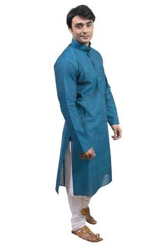 Rajwada Men Blue New Range Cotton Kurta Pyjama for Rs. 923.00