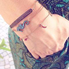 Elegante mix&match di braccialetti Kurshuni #kurshuni #bracelets #AIBIJOUX #silverjewelry