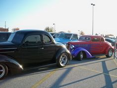 Our '34 Ford and a '35 Plymouth belonging to some friends