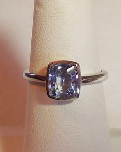 1.26ct Natural Blue Sapphire Bezel Set 14k Rose Gold Handmade Alternative Engagement Ring Custom Made OOAK by DiamondAddiction on Etsy