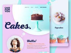Non-Profit Backery - Web Design Concept by Ashley Carre on Dribbble Bakery Website, Application Design, Landing Page Design, Cake Shop, Tea Cakes, Non Profit, Let Them Eat Cake, Happy Valentines Day, Web Design