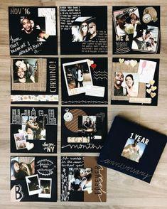 Best Ideas For Your Wedding Photo Album - Poptop Event Planning Guide - boyfriend gifts Album Journal, Scrapbook Journal, Travel Scrapbook, Bullet Journal, Junk Journal, Journal Paper, Journal Ideas, Diy Scrapbook, Diy Album Photo