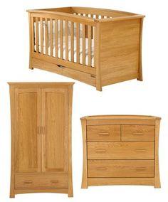 Ocean Cot/Day Bed - Spring Oak - Cot Beds, Cots & Cribs - Mamas & Papas